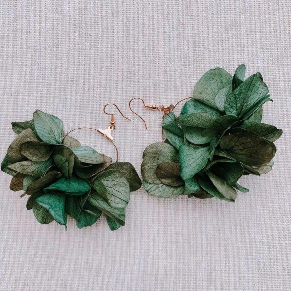 boucles Balata - boucles d oreilles fleurs hortensia - Cénélia Martinique