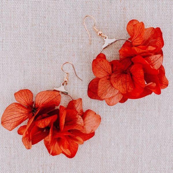 boucles Canouan - boucles fleurs Martinique Cénélia