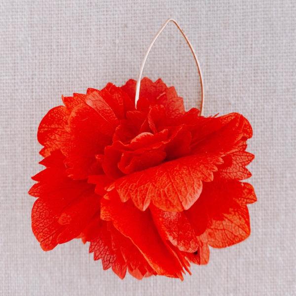 boucles Cuba - boucles d oreilles en fleur hortensia stabilisé Cénélia Martinique