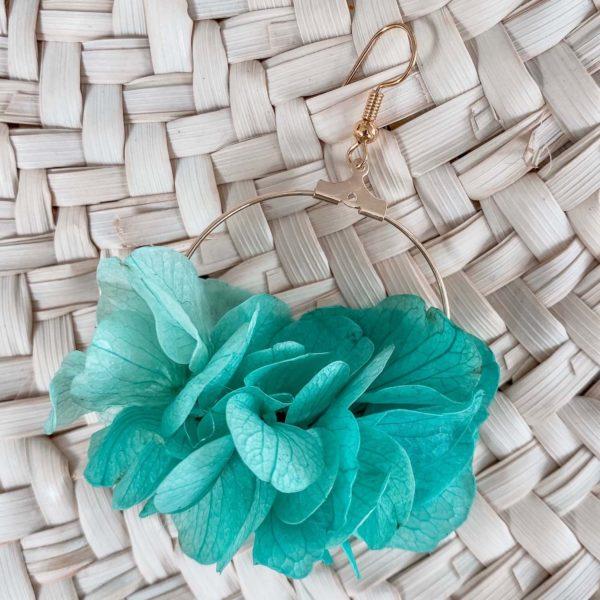 boucles Hawksnest - bijoux en fleurs éternelles Cénélia