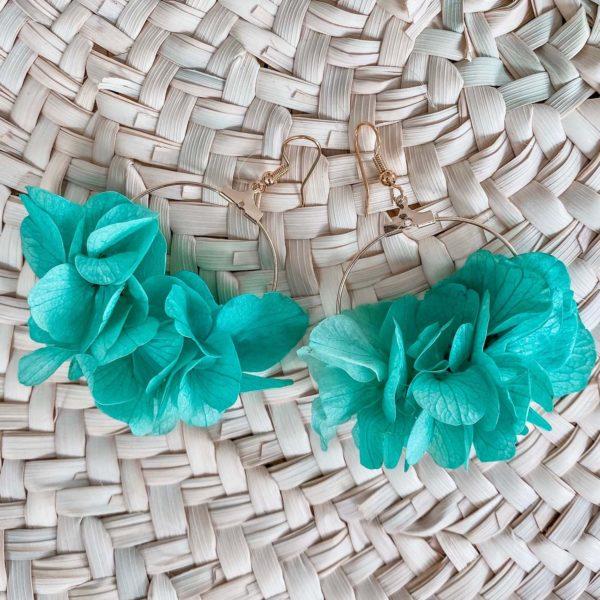 boucles Hawksnest - bijoux fleurs éternelles Cénélia