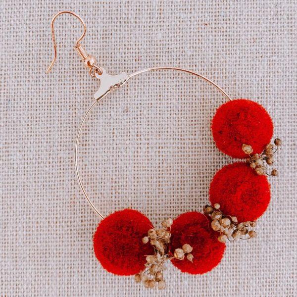 boucles Jost Van Dyke - boucles d oreilles fleurs stabilisées Martinique - boucles d oreilles vraies fleurs Cénélia