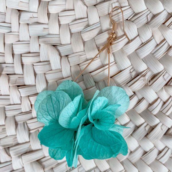 boucles Maracas Bay - boucle d oreille en fleur éternelle Martinique Cénélia