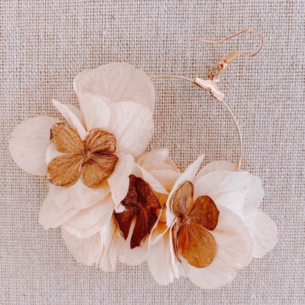 boucles Montserrat - boucle d oreille vraies fleurs Martinique - Cénélia