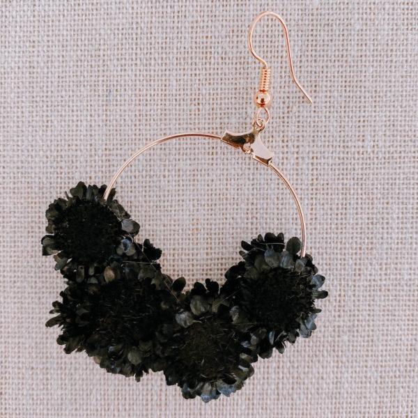 boucles Oyster Rock - boucles d oreille en fleurs séchée - Cénélia Martinique
