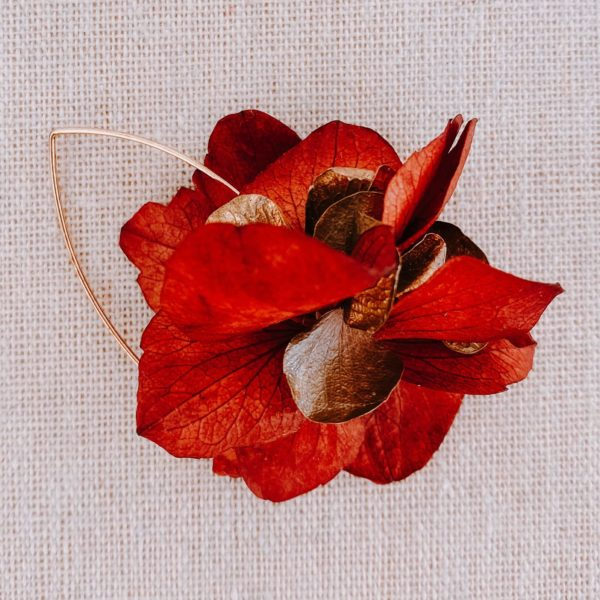 boucles Petite Terre - boucles d oreilles avec vraies fleurs Martinique - Cénélia