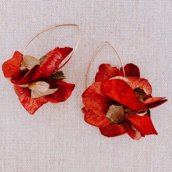 boucles Petite Terre - boucles d oreilles vraies fleurs Martinique - Cénélia