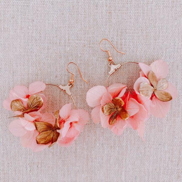 boucles Redonda - boucles d oreilles à fleurs Cénélia Martinique