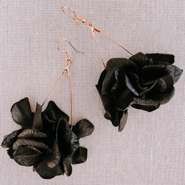 boucles Sainte-Lucie - boucles d'oreilles en vraies fleurs Martinique Cénélia