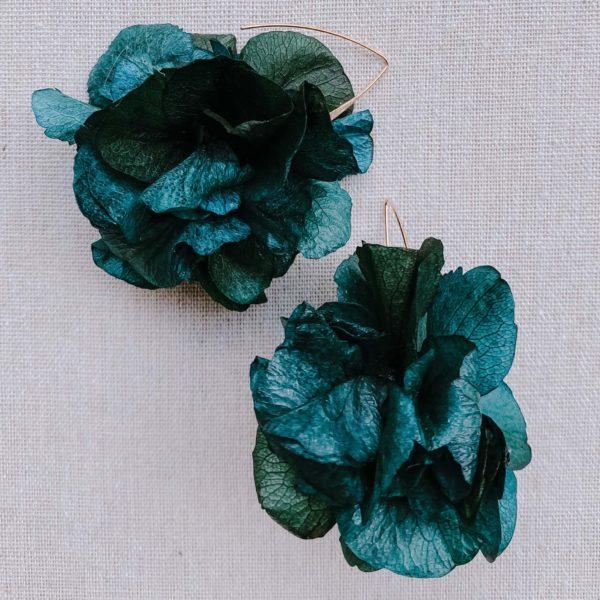boucles Santo Domingo - boucles d oreilles à fleurs hortensia - Cénélia