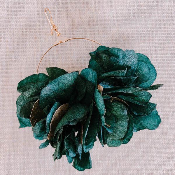 boucles Virgin Gorda - boucles d oreilles en fleurs stabilisées - Cénélia Martinique
