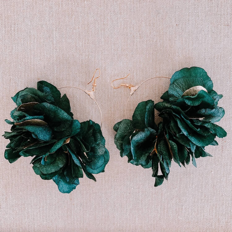 boucles Virgin Gorda - boucles d oreilles en fleurs stabilisées Cénélia Martinique