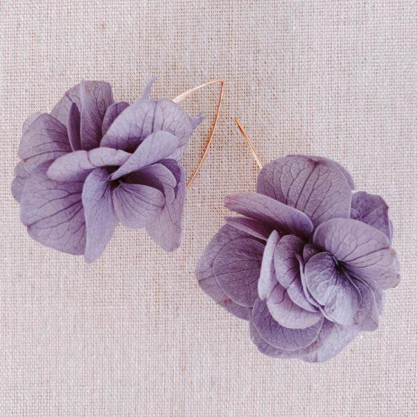boucles cozumel - boucles d oreilles fleurs naturelles Cénélia Martinique