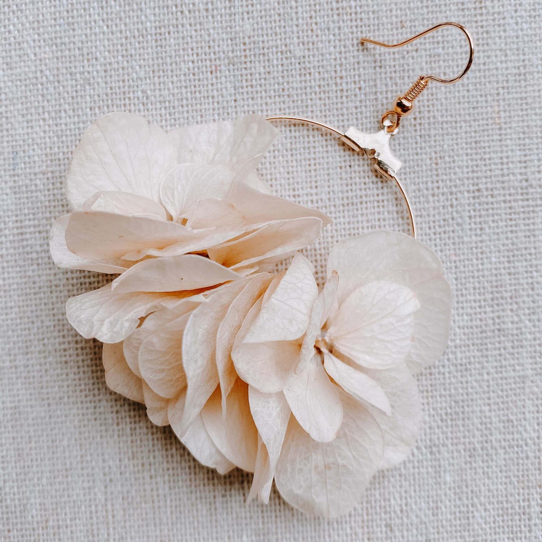 boucles d oreille Les Salines - bijoux en fleurs Cénélia Martinique