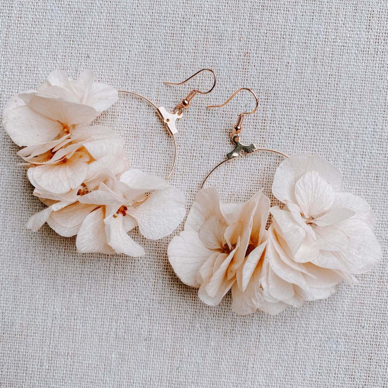 boucles d oreille Les Salines - bijoux en fleurs éternelles Cénélia Martinique