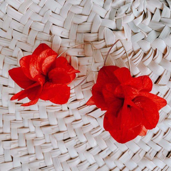 boucles d oreille en fleurs éternelles Cénélia - Pinel Island