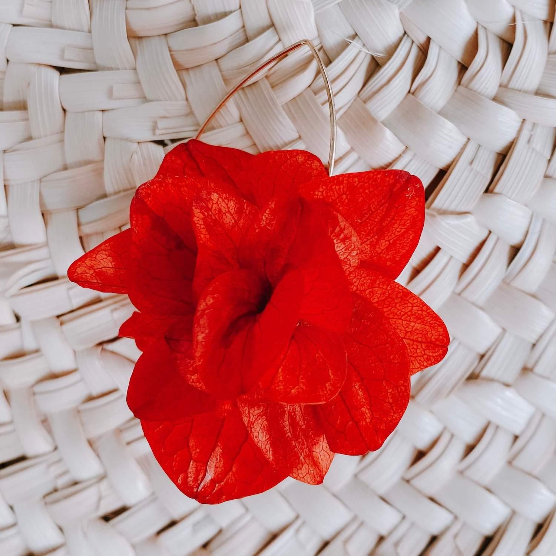 boucles d oreille en fleurs éternelles Cénélia bijoux - Pinel Island