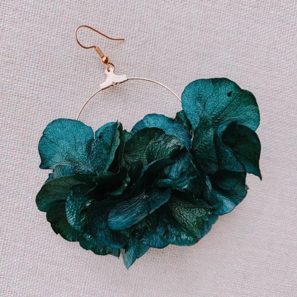 boucles d oreille en fleurs naturelles stabilisées - boucles saint-martin - Cénélia Martinique