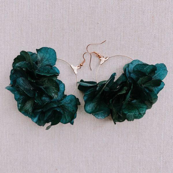 boucles d oreille en vraies fleurs naturelles stabilisées - boucles saint-martin - Cénélia Martinique