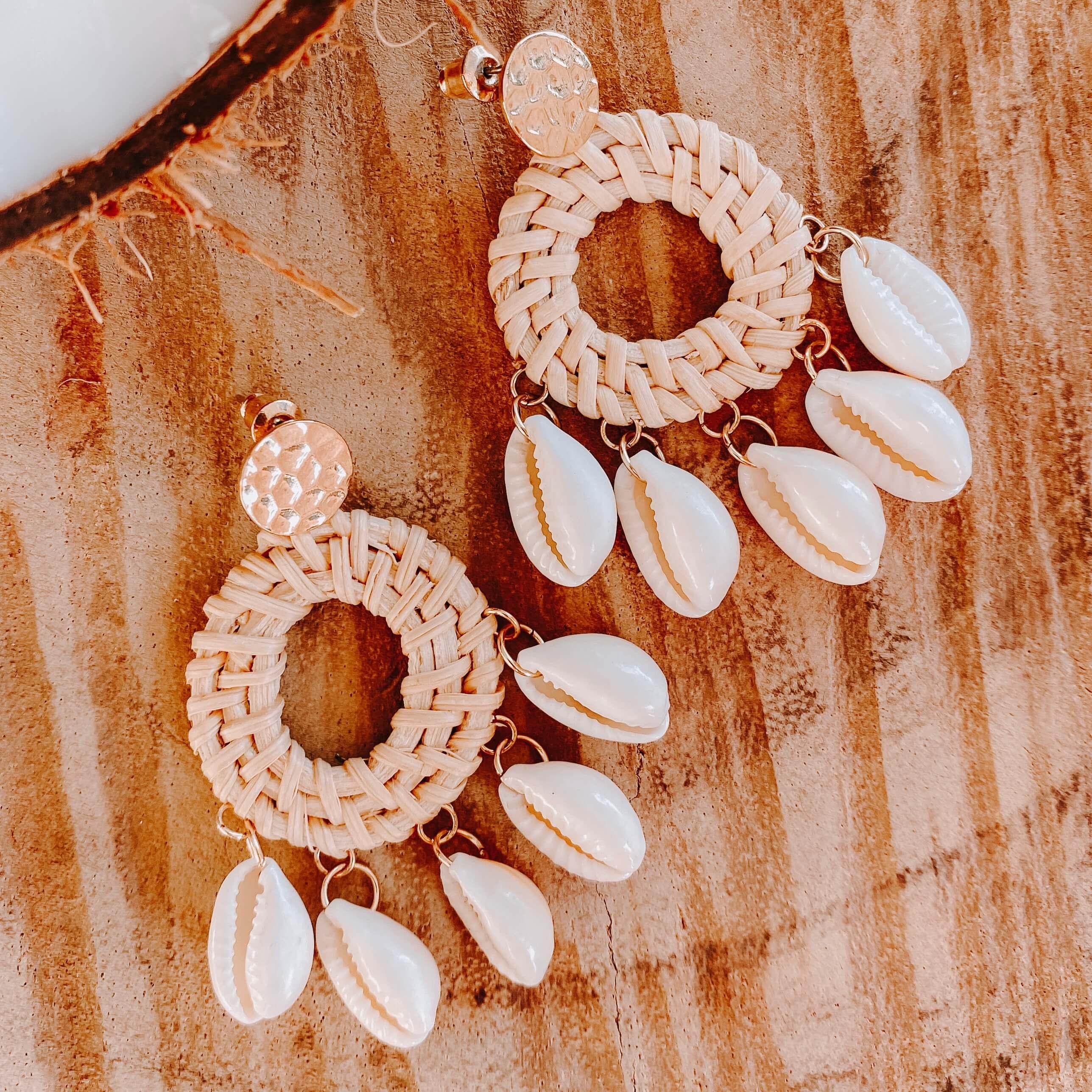 boucles d oreilles coquillages - Cénélia - Bequia