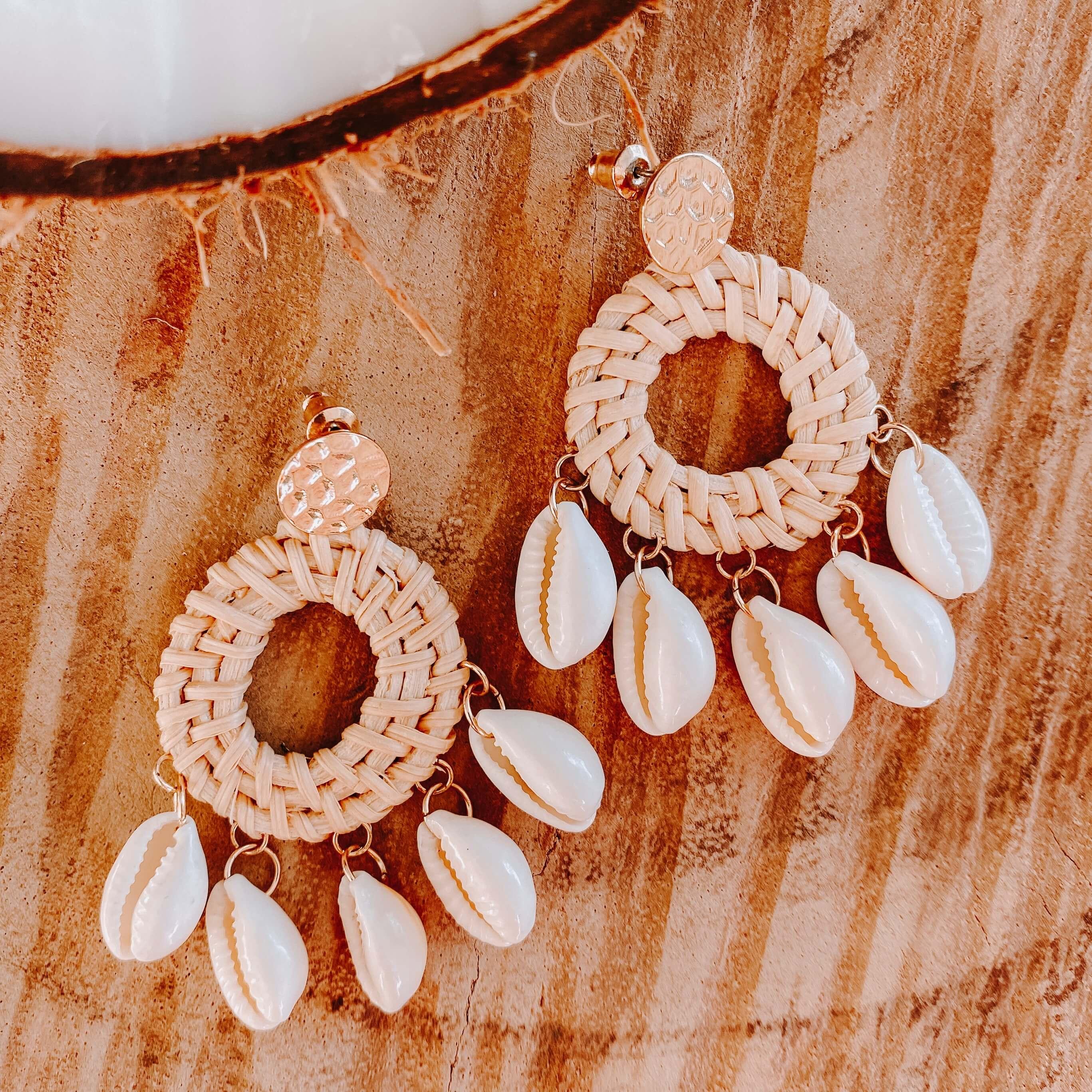 boucles d oreilles coquillages - boucles d oreilles été - Cénélia - Bequia