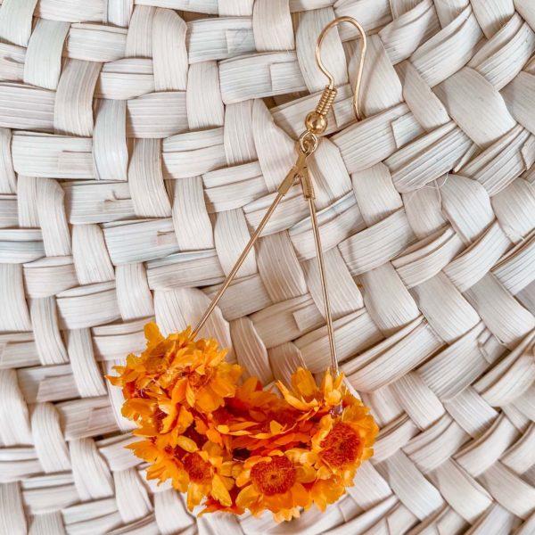 boucles d oreilles en fleurs Cénélia bijou - Petit Bourg