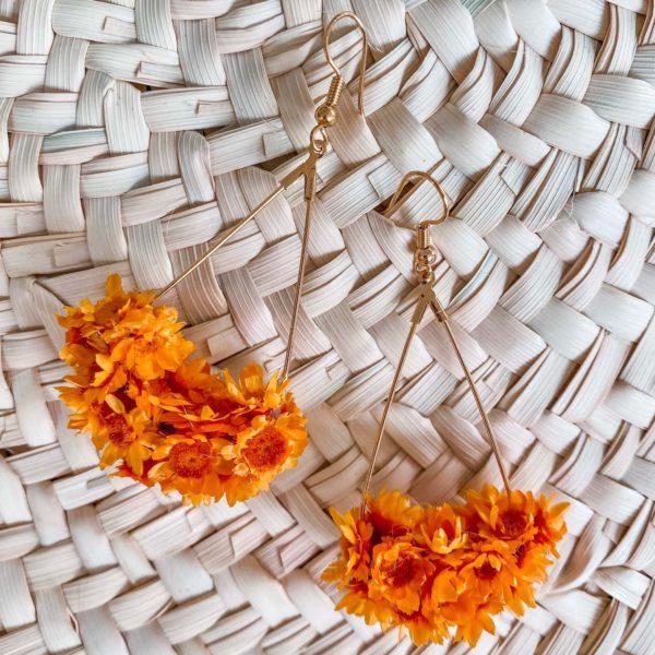 boucles d oreilles en fleurs Cénélia bijoux - Petit Bourg