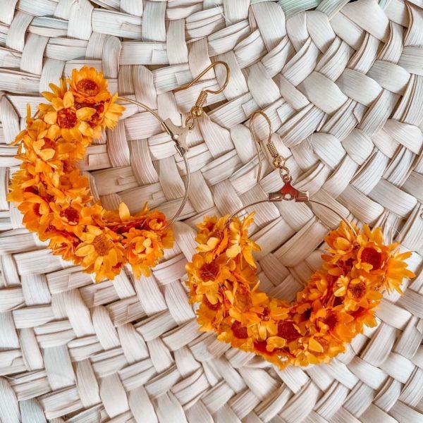 boucles d oreilles en fleurs séchées Cénélia - Trois Rivières