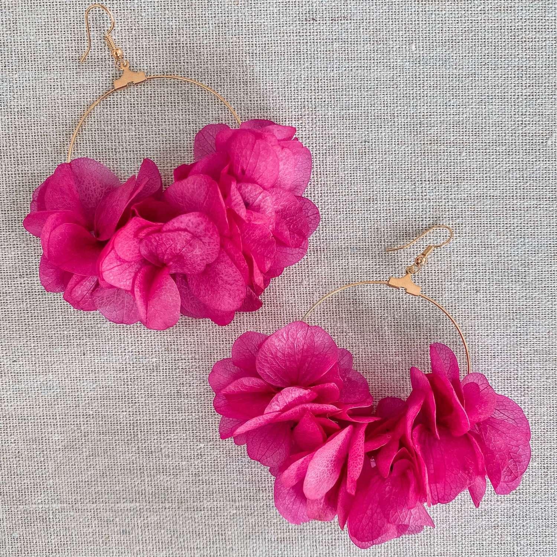 boucles d oreilles fleurs naturelles cénélia - Varadero