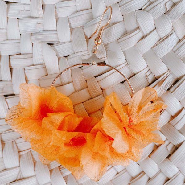 boucles d oreilles vraies fleurs Martinique Cénélia - Régina