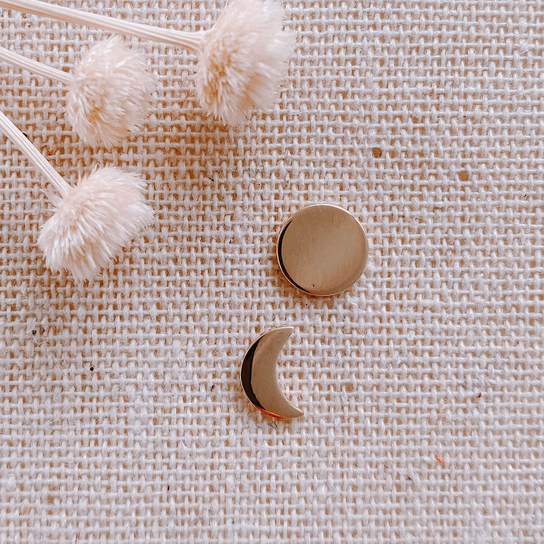 boucles d'oreille lune et soleil Louane - Cénélia