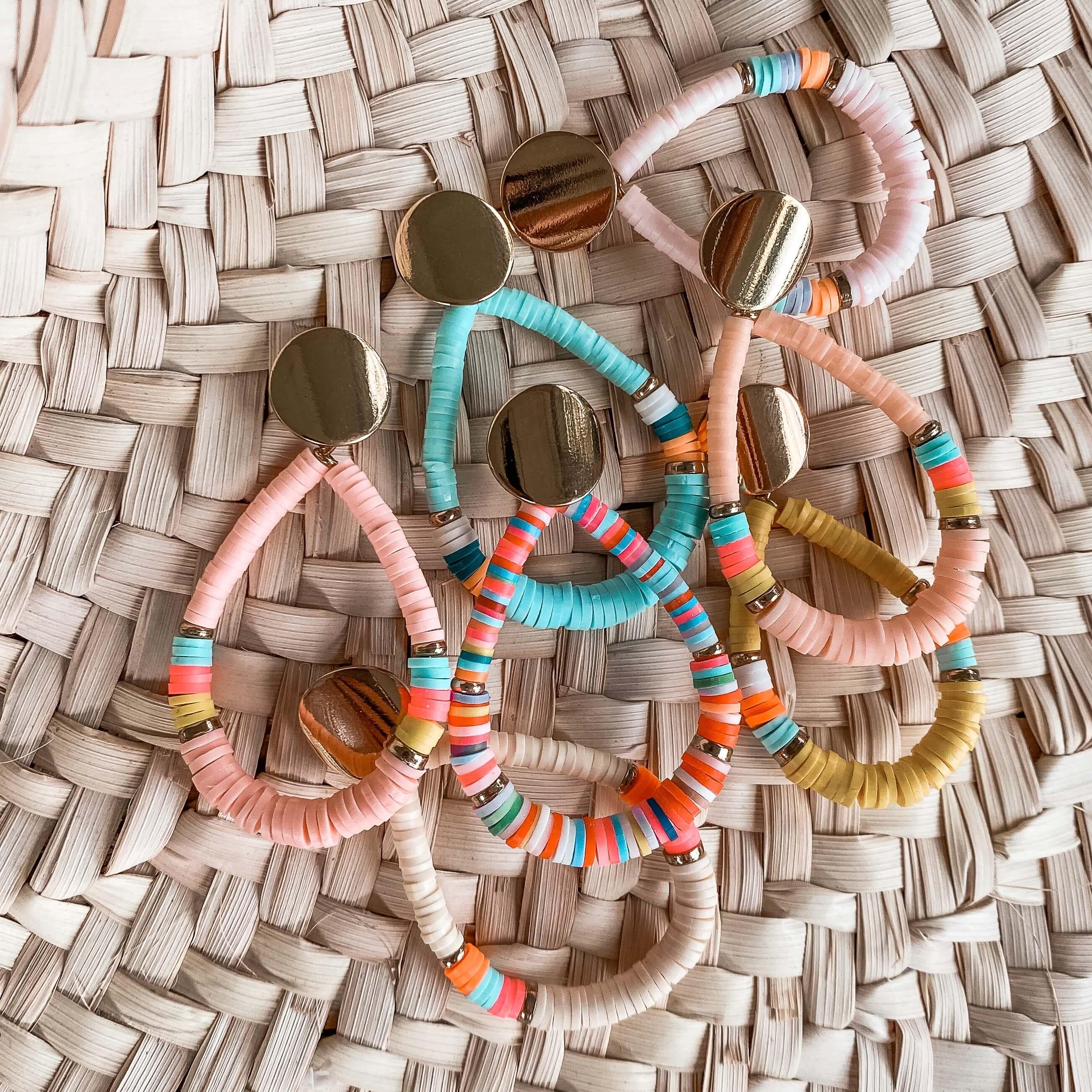 boucles d'oreille perles heishi - Cénélia