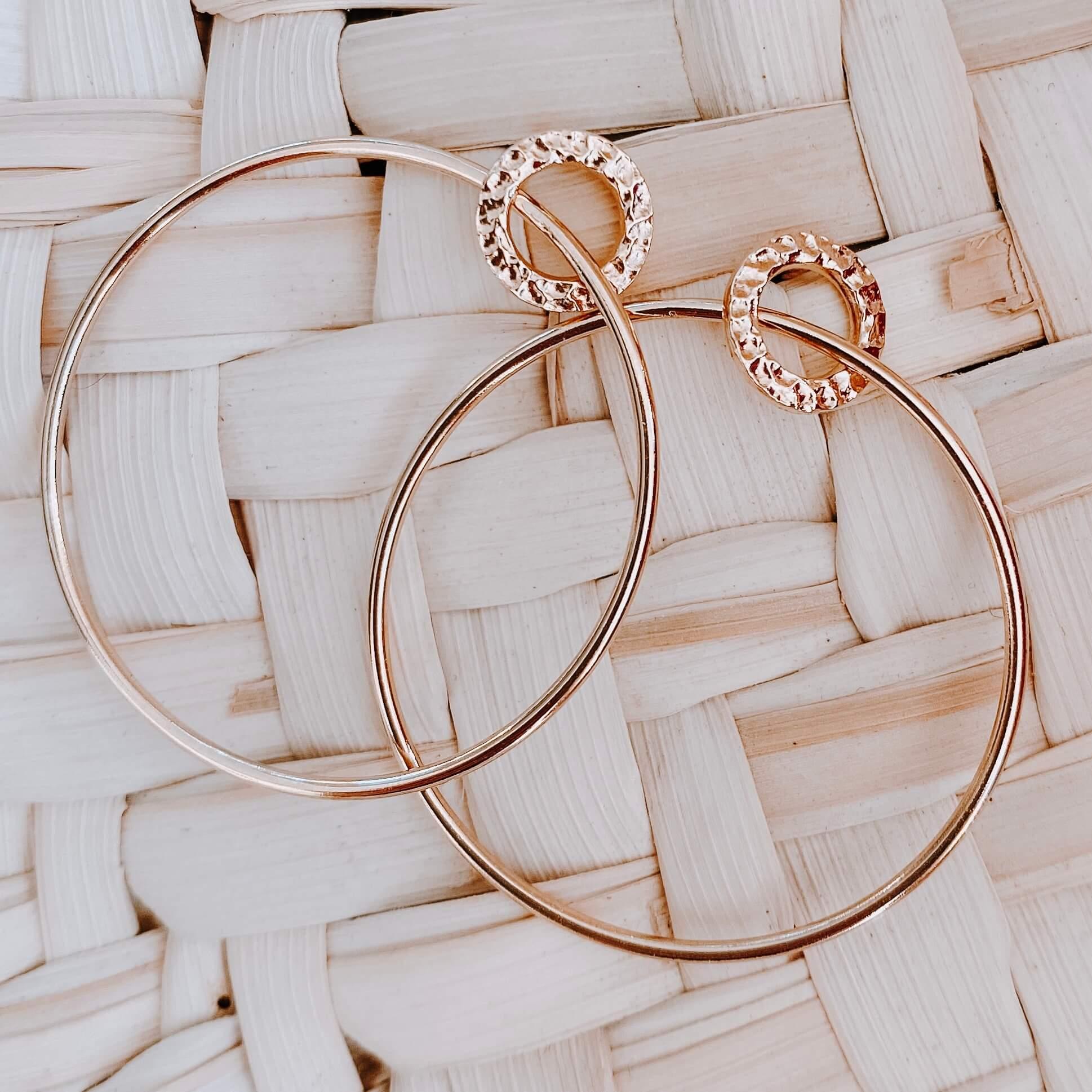 boucles d'oreilles Joséphine - créoles plaqué or Cénélia