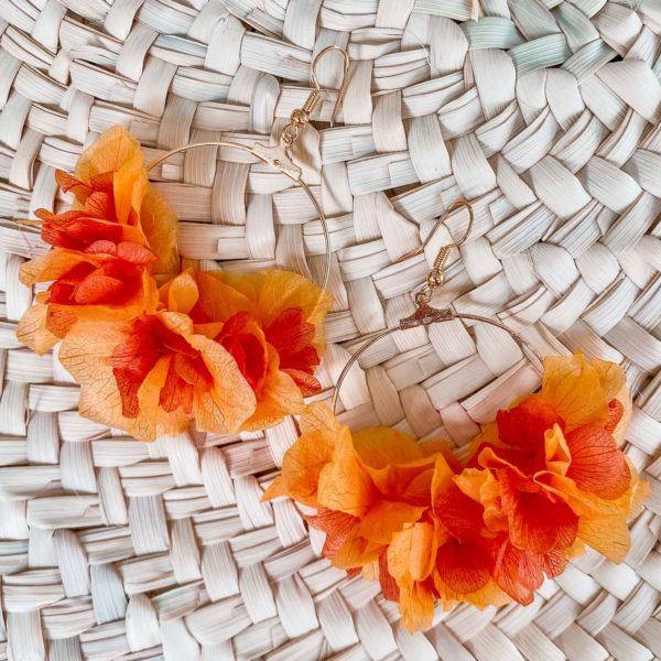 boucles d'oreilles Martinique en fleurs - Cénélia