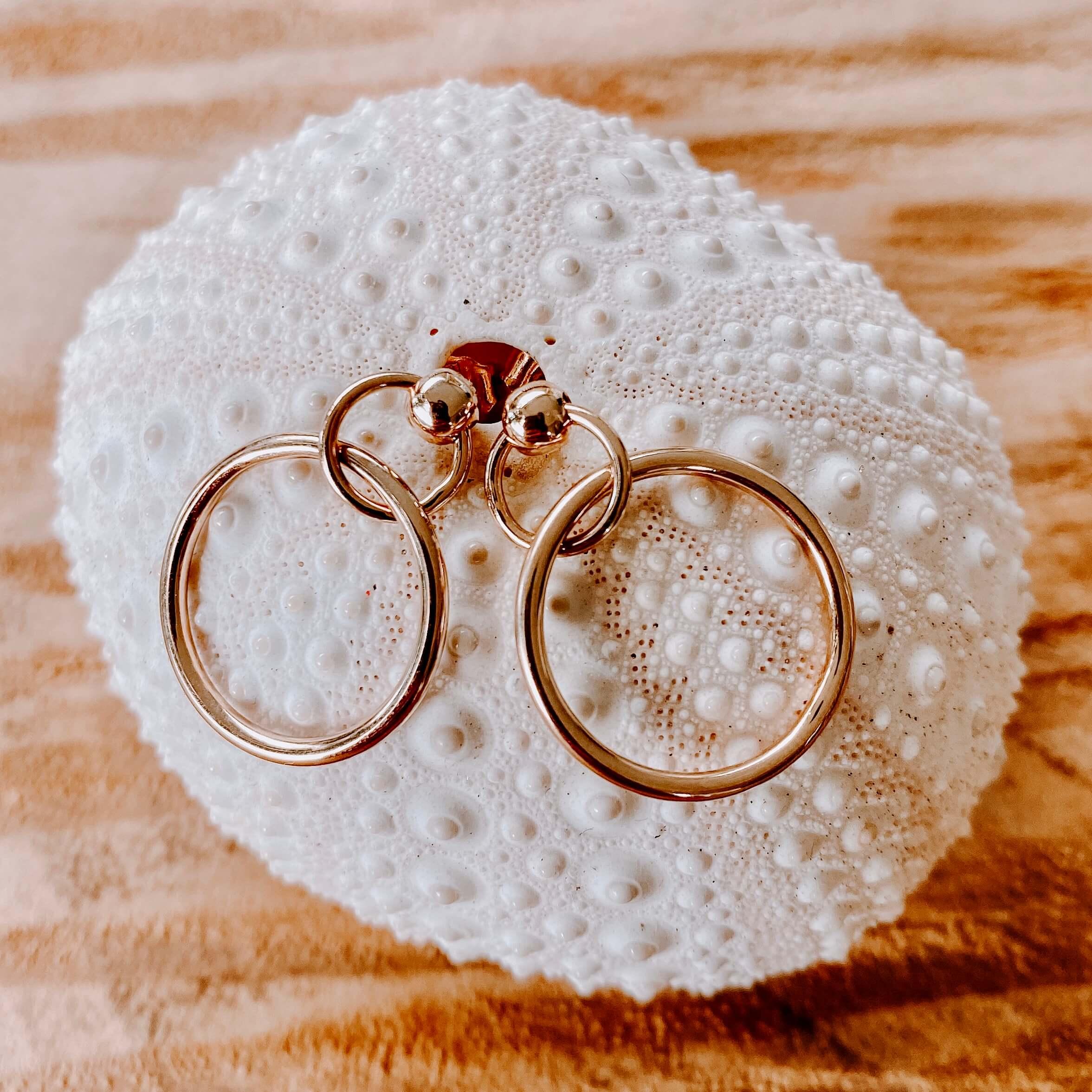 boucles d'oreilles St Kitts - boucles plaqué or garanties 1 an - Cénélia