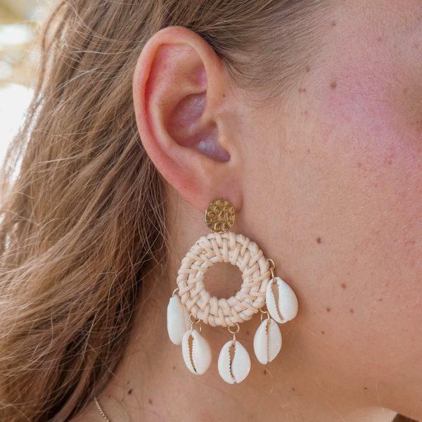 boucles d'oreilles coquillages - boucles d oreilles cauris