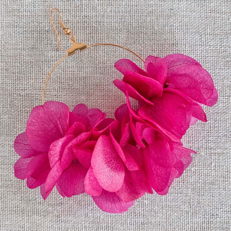 boucles d'oreilles fleurs naturelles cénélia - Varadero