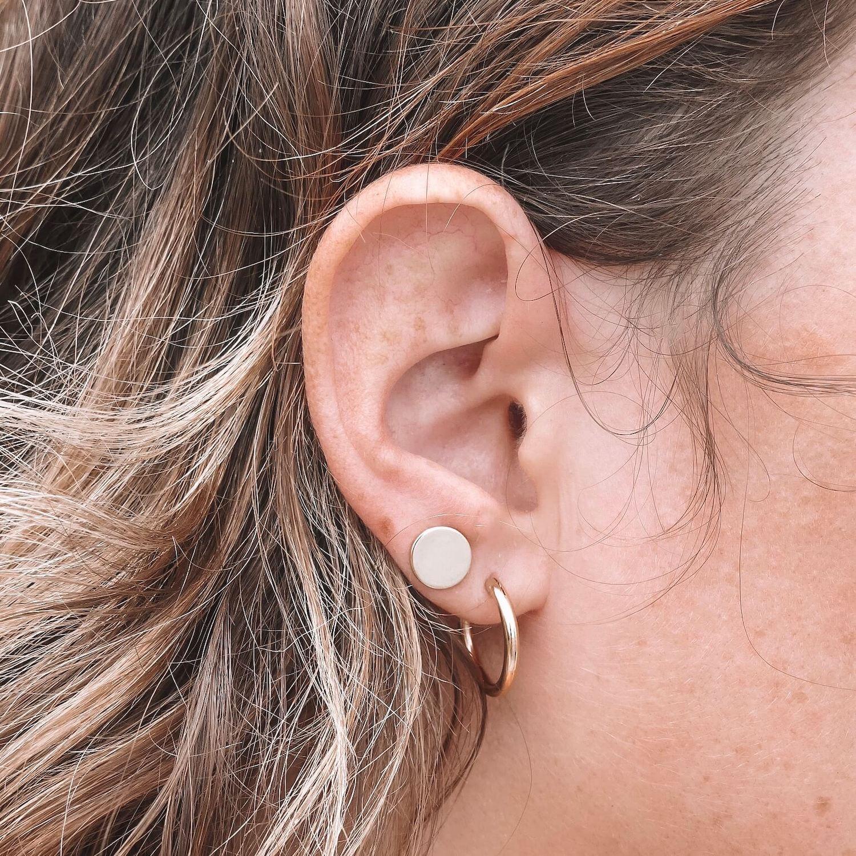 boucles d'oreilles lune et soleil Louane - Bijoux Cénélia