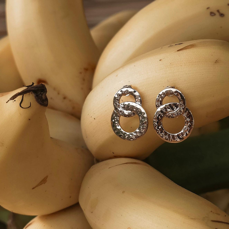 boucles d'oreilles neela - boucles d oreilles dorées - Cénélia