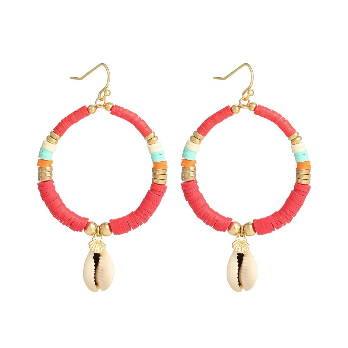boucles d'oreilles perles heishi - boucle oreille Cénélia - bijou surfeuse - Moana