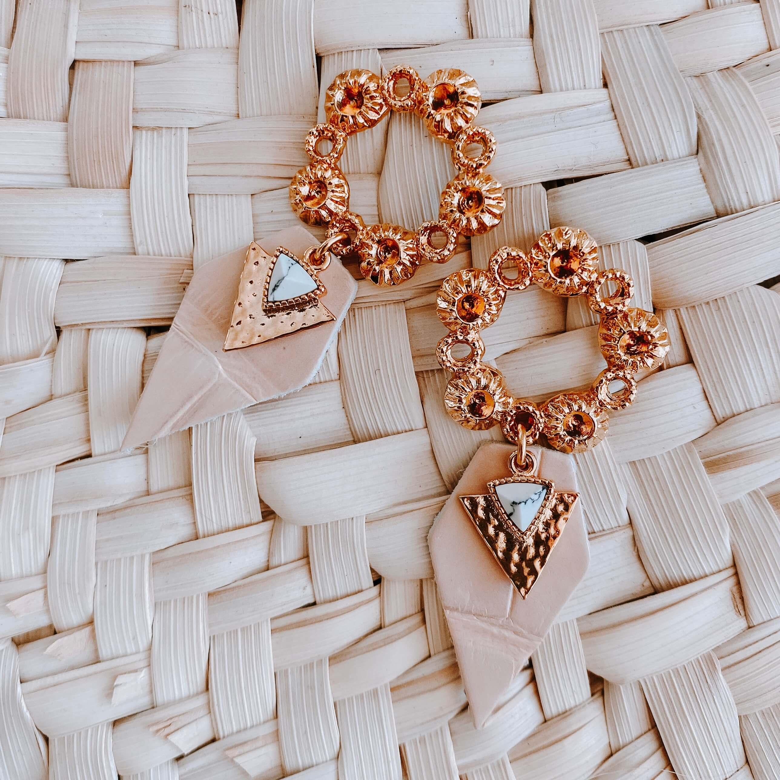 boucles d'oreilles rose pâle Cénélia - Daisy