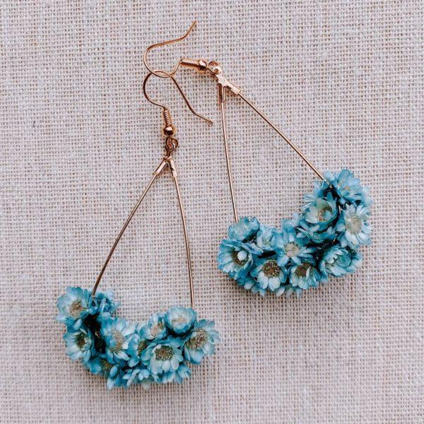 boucles marie galante - boucles d oreilles à fleurs - Cénélia