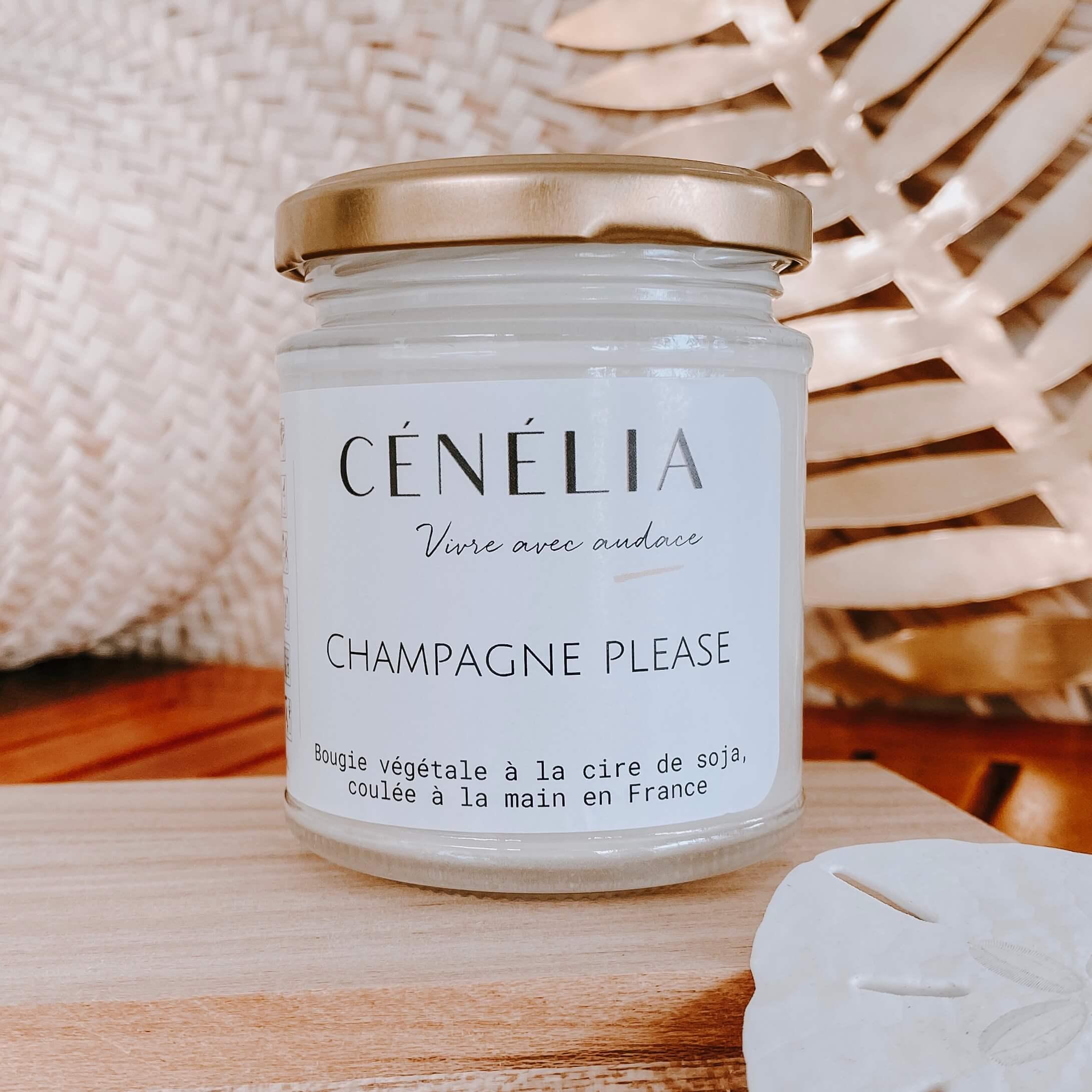 bougie Cénélia au Champagne - Bougie naturelle à la cire de soja