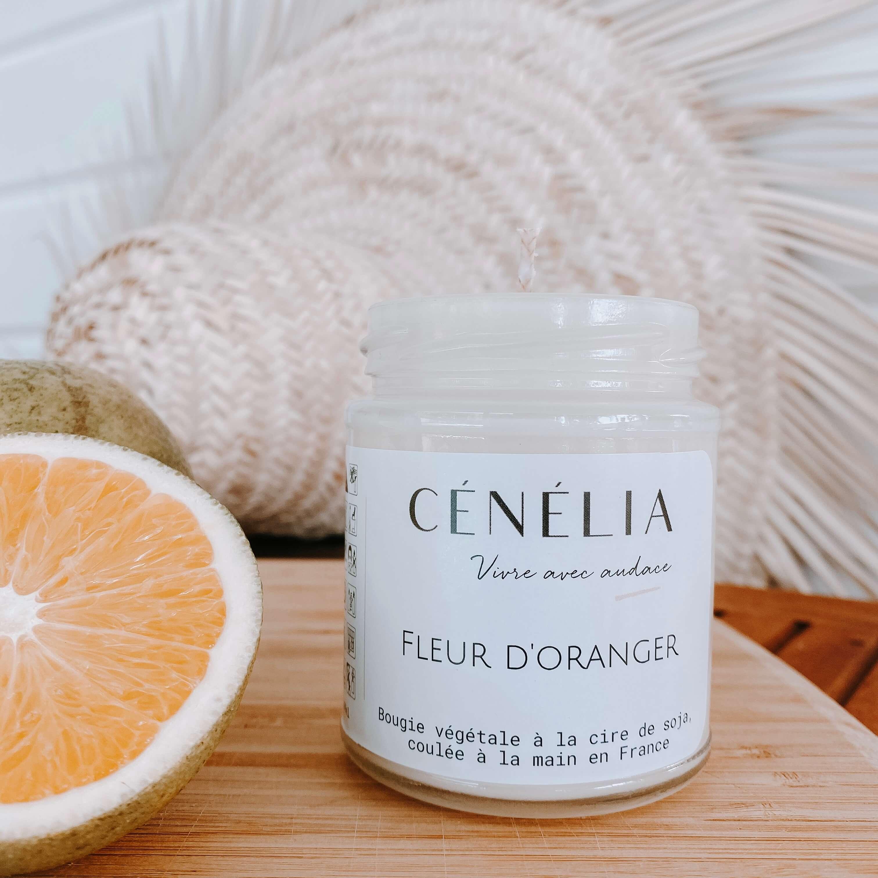 bougie à la fleur d'oranger - Bougie naturelle parfumée Cénélia