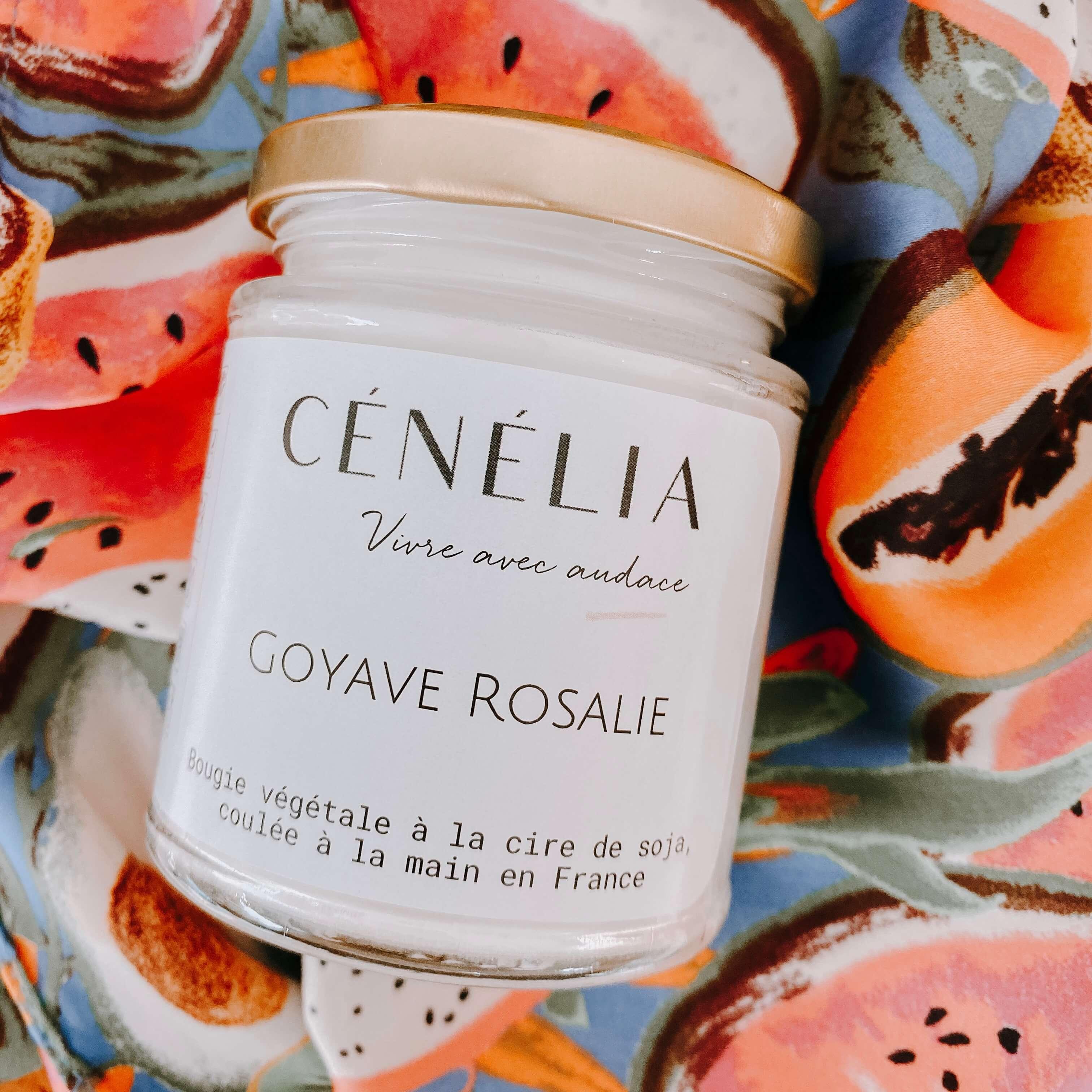 bougie à la goyave - Bougie tropicale Cénélia