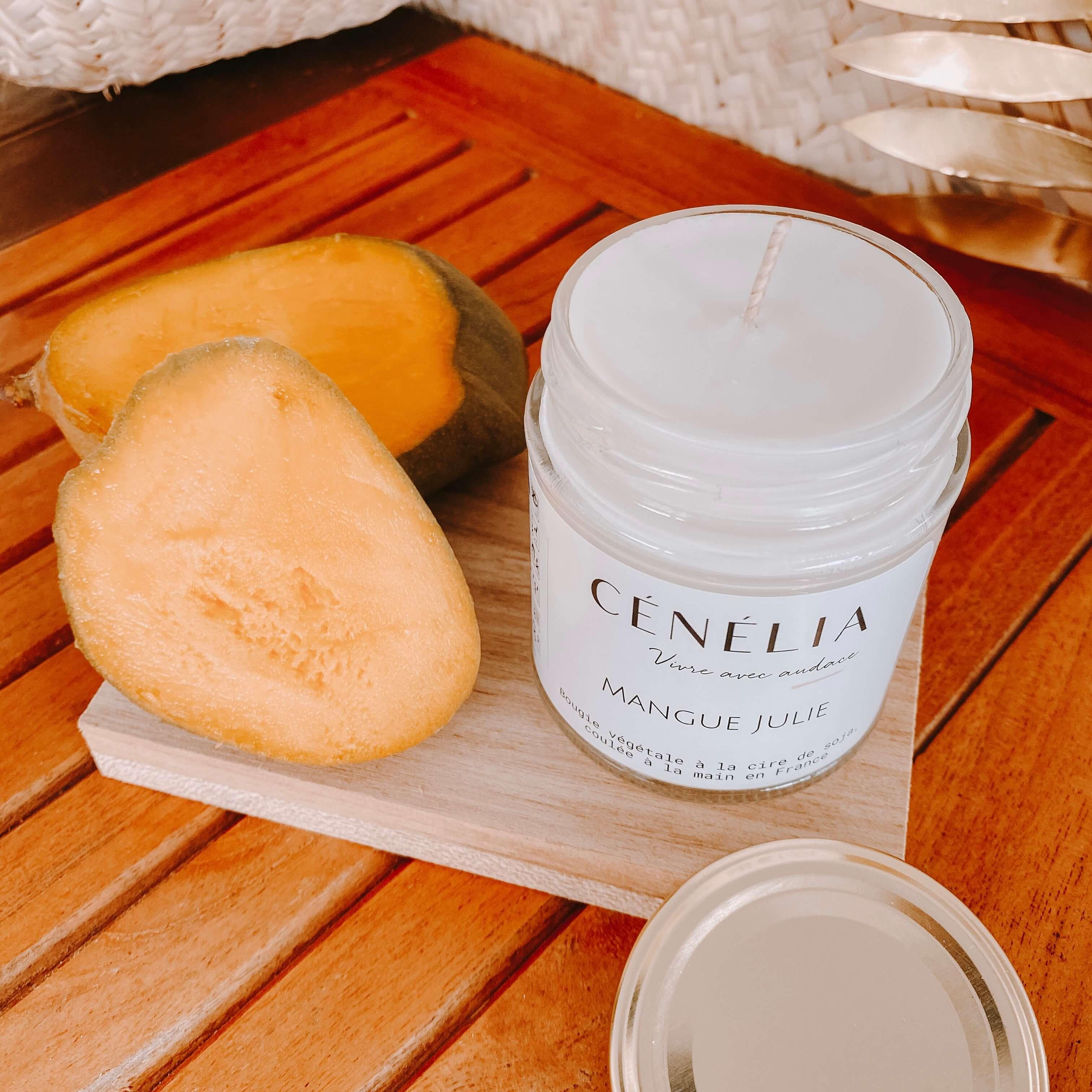 bougie à la mangue - Cénélia