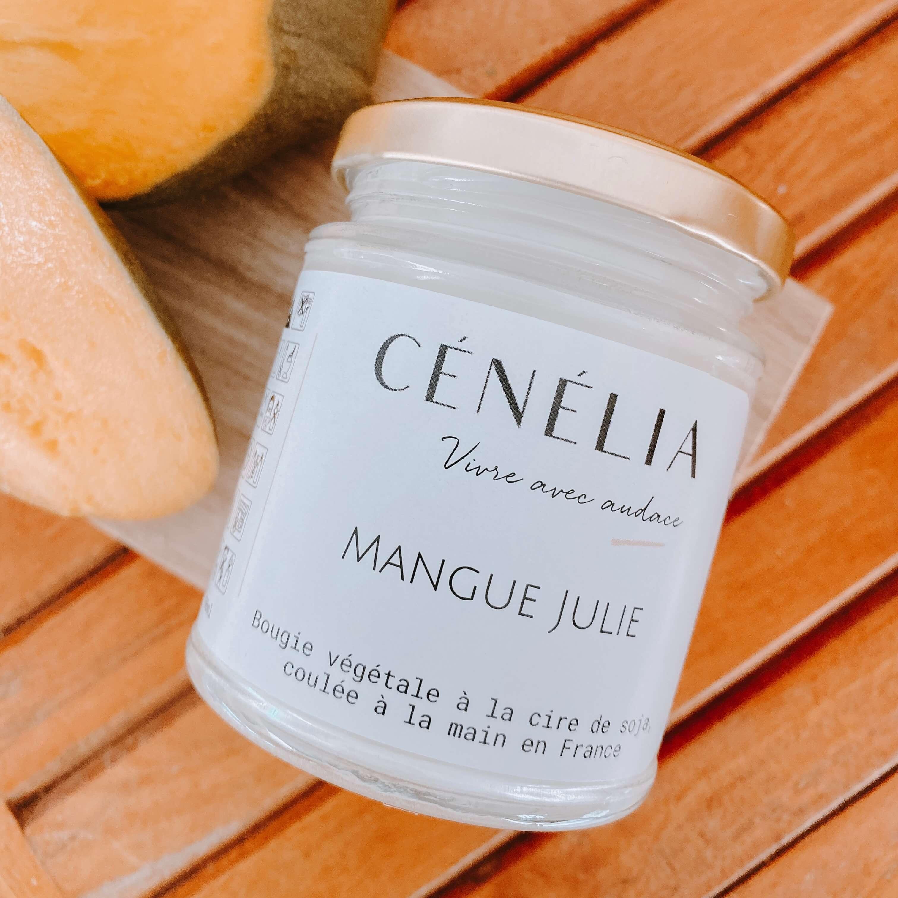 bougie à la mangue - bougie naturelle fruitée Cénélia