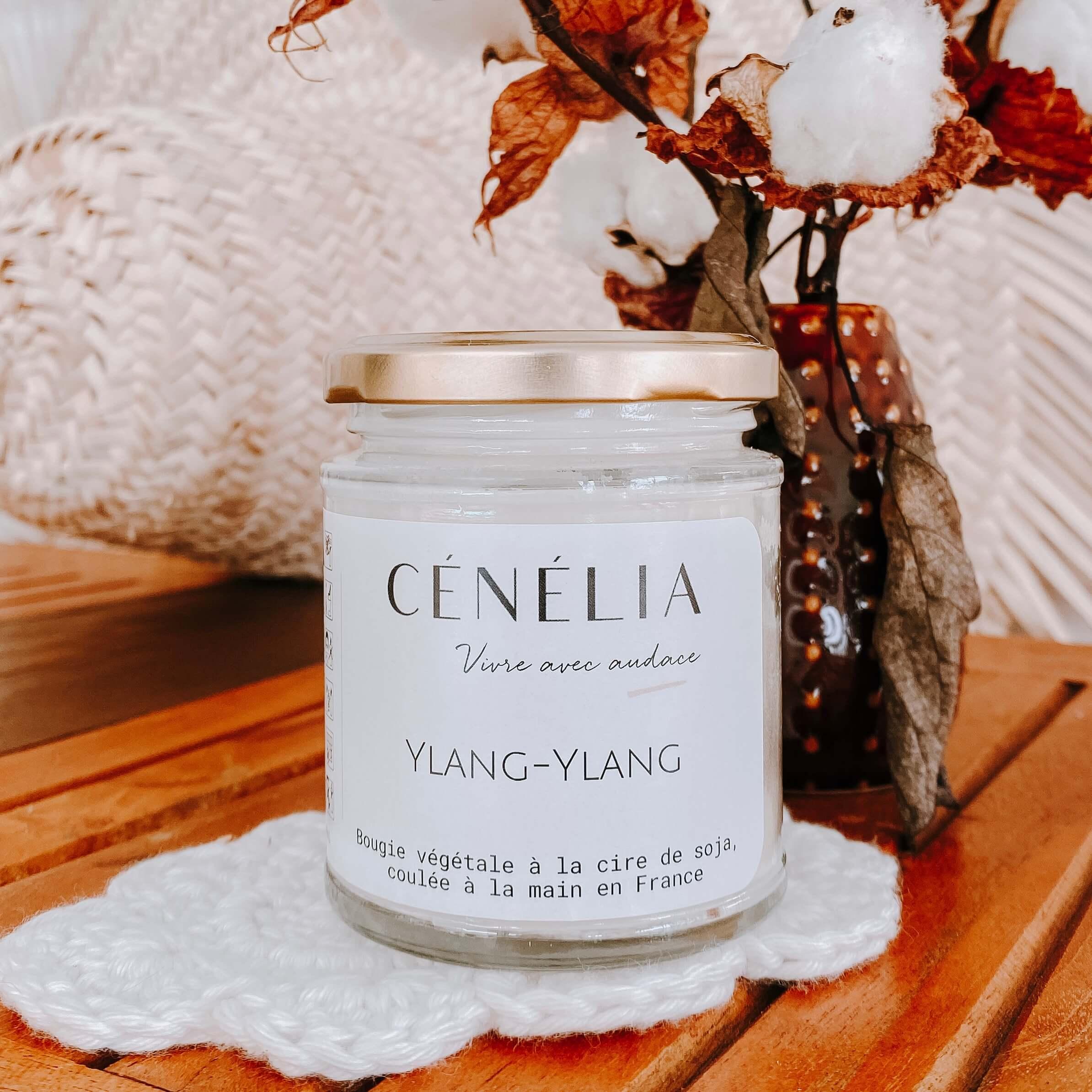bougie exotique - bougie Ylang-Ylang Cénélia