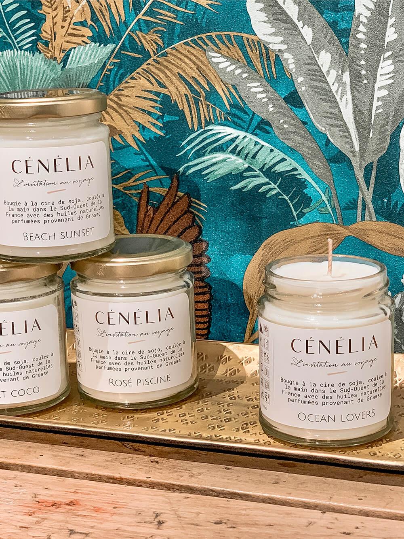 bougie naturelle parfumé - Cénélia