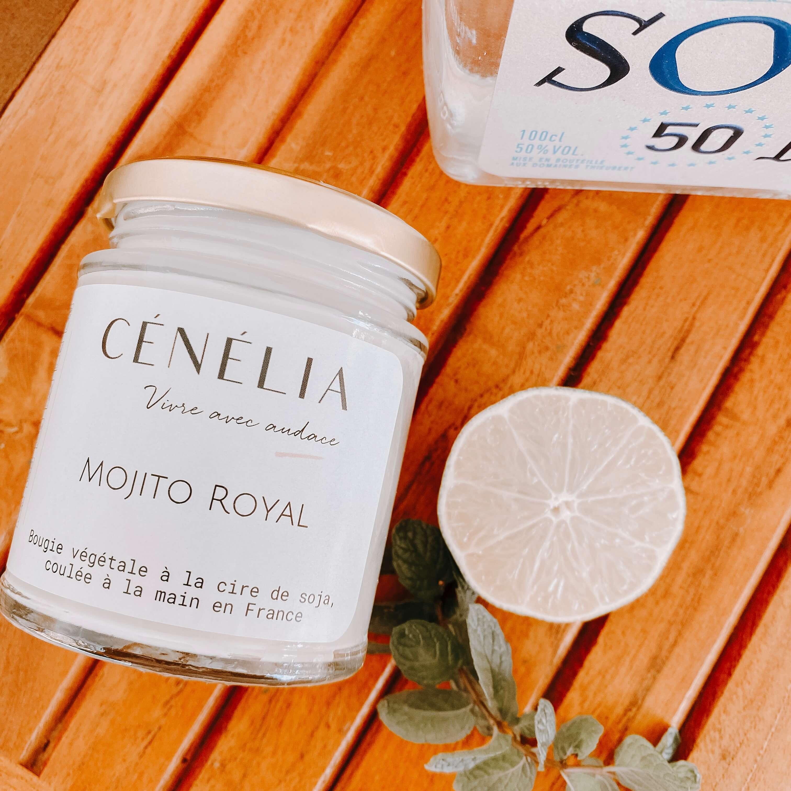 bougie tropicale Mojito Royal - Cénélia